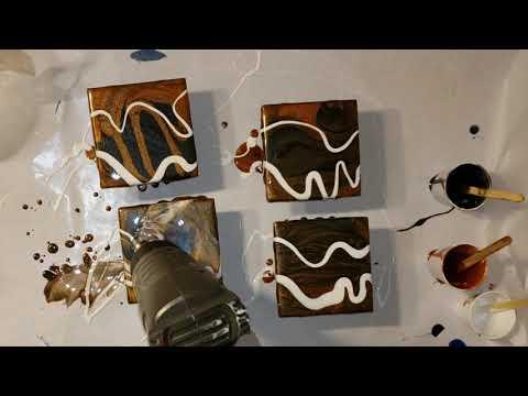 Resin Art / Epoxy Art Tiger Eye Coasters DIY