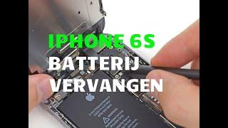 Handleiding vervangen accu iphone 6s - www.iphoneaccushop.nl