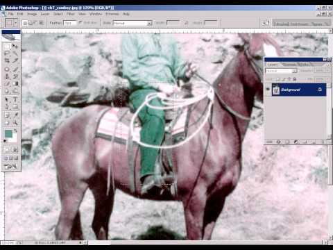Photoshop CS2 - Phan 14 - Bai 5 - Phuc che anh cu da bi phai mau