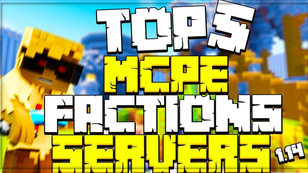 Top 5 Minecraft Pe Factions Server Best Factions Server Mcpe V1 14 6 Youtube