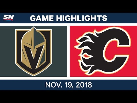 NHL Highlights | Golden Knights vs. Flames – Nov. 19, 2018