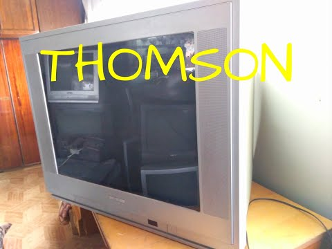 Огромный телевизор THOMSON содержание деталей.
