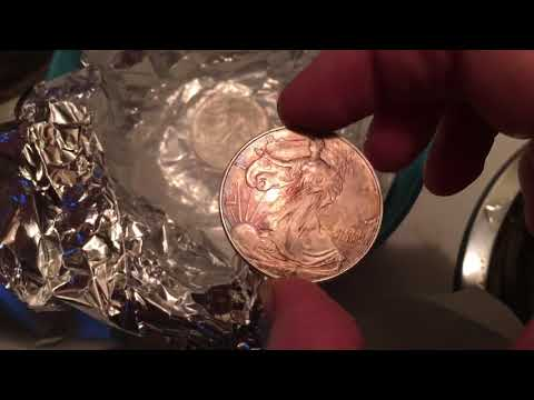 How to safely Clean silver coins & silver with NO harmful chemicals - Try This!