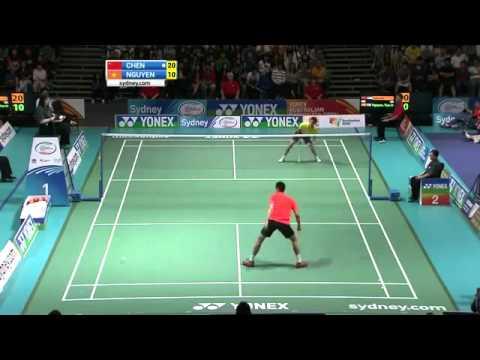Chen Jin vs Nguyen Tien Minh Yonex Australian Open 2012