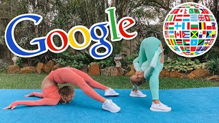 GOOGLE TRANSLATE Acro Gymnastics Challenge (PART 2)