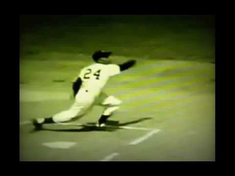 Willie Mays Slow Motion Swing (Baseball)
