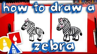 How To Draw A Cartoon Zebra