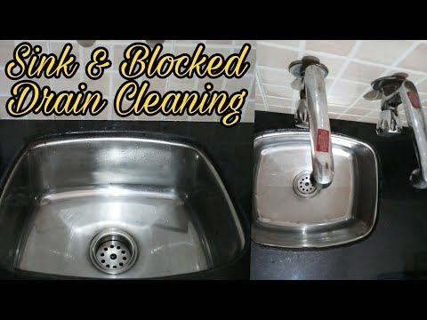How To Clear Sink Blockage | Kitchen Sink And Blocked Drain Cleaning ...