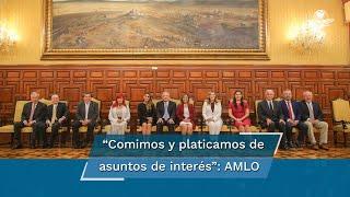 El presidente López Obrador sostuvo un encuentro con los gobernadores electos, con quienes dijo, comió y platicó de asuntos de interés