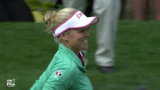 4 Superb Moments from Brooke Henderson's Thrilling Playoff Win | 2016 KPMG Women's PGA Championship