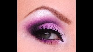 Pink and Purple makeup tutorial
