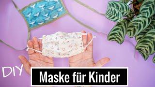 DIY Behelfs-Maske (BMNS) nähen - Gesichtsmaske für Kinder (kein Virenschutz)