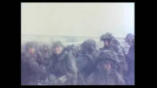 Falklands War: Welsh Guards & Marines on Sappers Hill on the Day of Surrender 14 June 1982.wmv