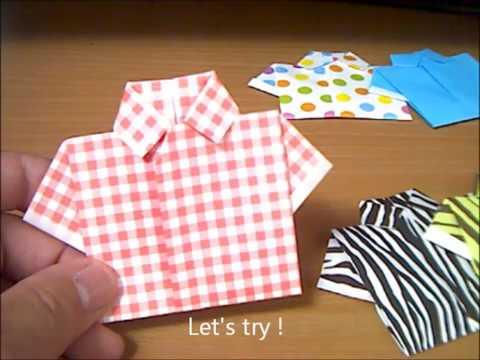 ハート 折り紙 折り紙シャツ折り方 : youtube.com