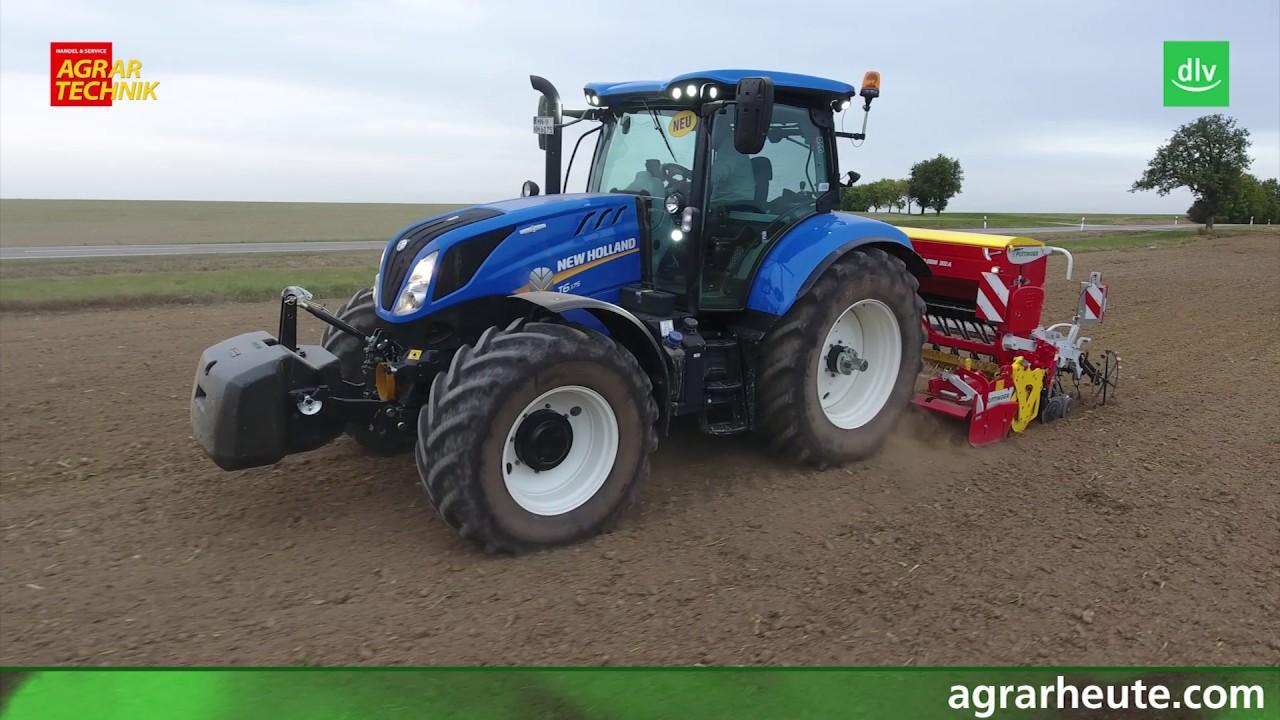 new holland traktor t6 im agrartechnik maschinentest youtube. Black Bedroom Furniture Sets. Home Design Ideas