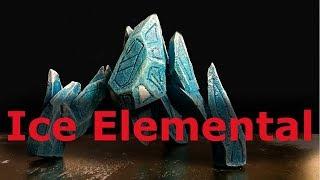 D&D Miniatures  - Ice Elemental / Golem (Custom Miniature Crafting Tutorial)