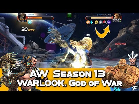 #AW S13 vs 5469 - Warlock vs. Rank 5 Unblockable Thing - Marvel Contest Of Champions
