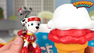 Learn Colors with Paw Patrol Ice Cream Scoops!