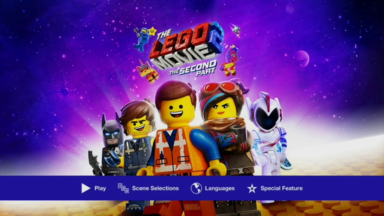 The Lego Movie 2 The Second Part 2019 Dvd Menu Youtube