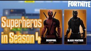NEW SUPERHERO SKINS IN SEASON 4?! Fortnite Possible Themes for Season 4 Battle Pass