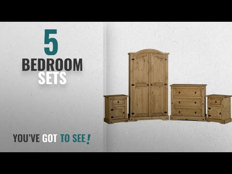 Top 10 Bedroom Sets [2018]: Seconique Corona 4 Piece Bedroom Set Distressed Waxed Pine - Distressed