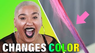 Women Try Color-Changing Hair