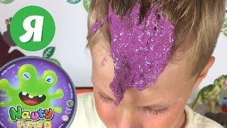 Лизун прилип до волосся - Velcro Nauty Putty clay stuck to the hair