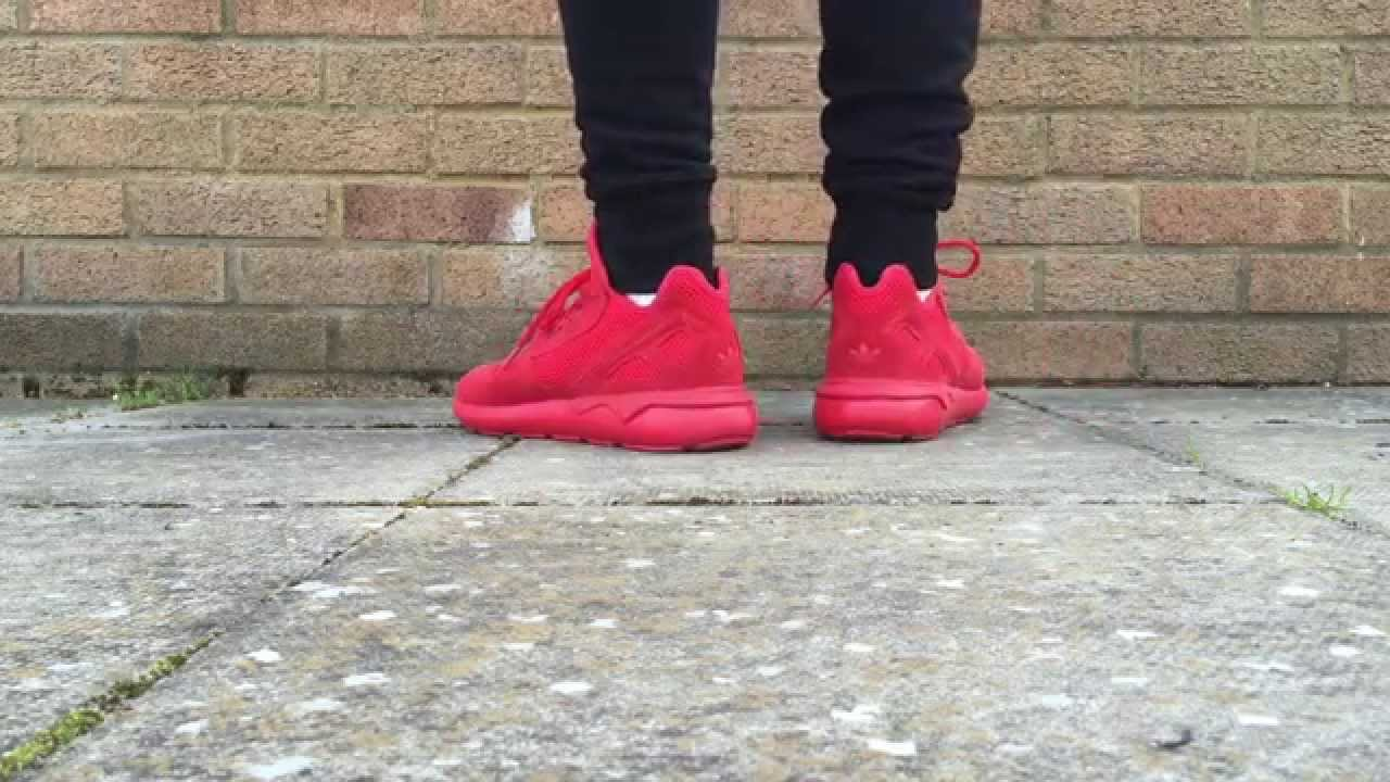 f49c3f8a9aa Adidas Tubular Runner - Red On Feet (Review In The Description) - YouTube