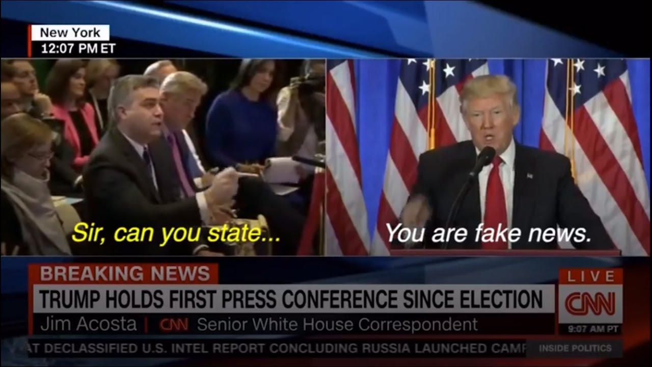 CNN YOU ARE FAKE NEWS SAID PRESIDENT-ELECT DONALD TRUMP ...