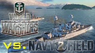 NavyField 2 vs. World of Warships and NavyField 1