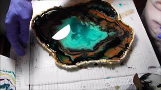 Resin Geode #1 green mash up