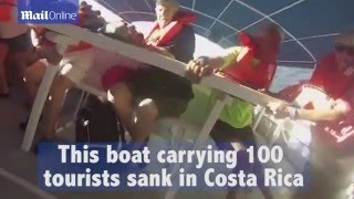 Terrifying moment Costa Rica tour cruise catamaran capsized and sank