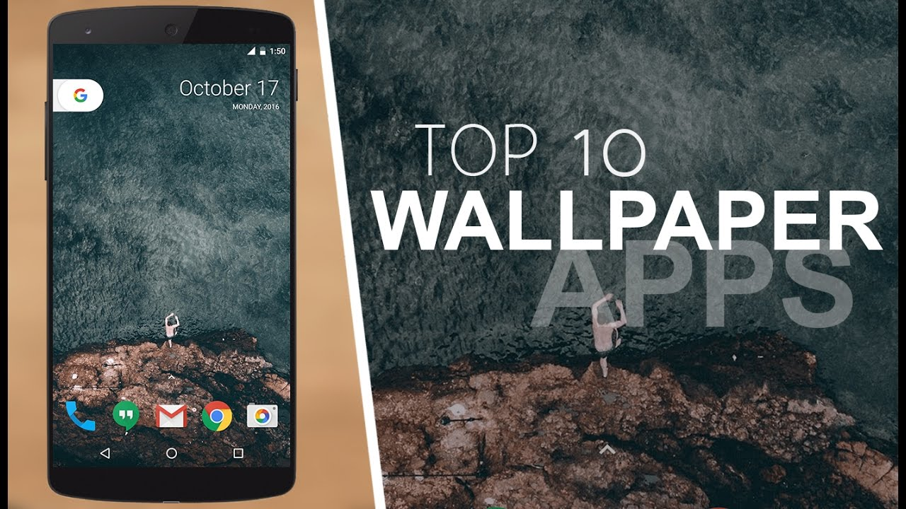 Top 10 Best Wallpaper Apps For Android 2016 Youtube