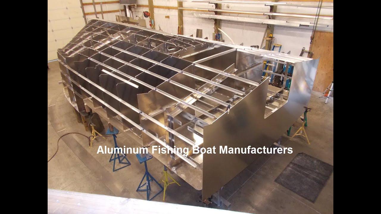 Aluminum fishing boat manufacturers youtube for Fishing boat manufacturers