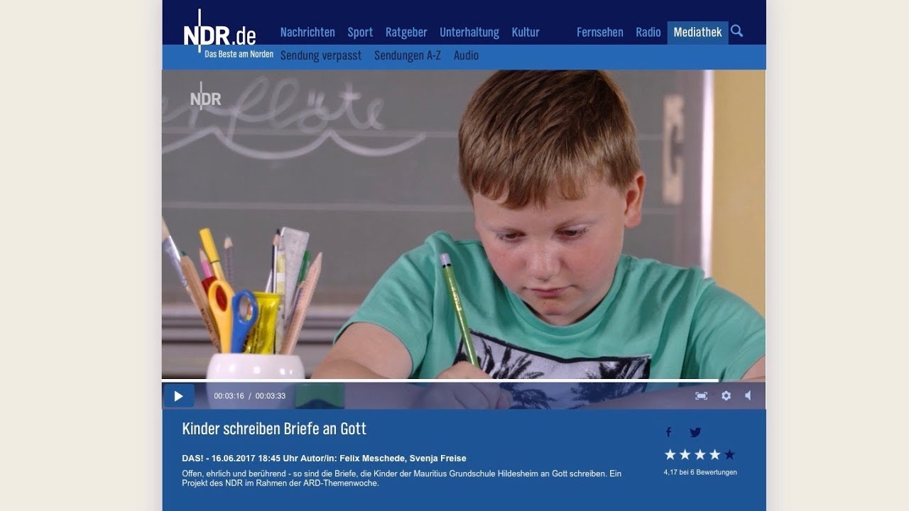Kinderbriefe An Gott : Ndr das kinder schreiben briefe an gott youtube