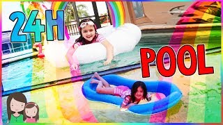 24 STUNDEN im POOL, schafft AVA das? 1 TAG lang POOL CHALLENGE - Alles Ava