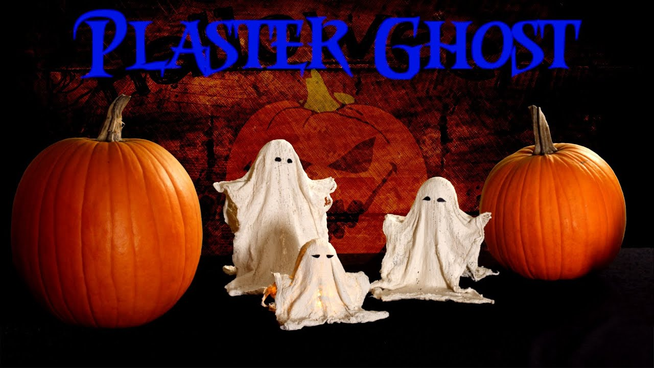 Halloween decor 2014 - Diy Halloween Plaster Ghost Decorations Fast Easy Cheap 2014