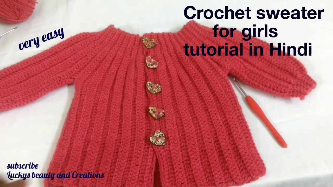 Crochet Sweater Top For Girls Tutorial In Hindi Crochet Baby