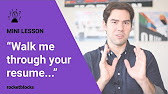 walk me through your resume example youtube