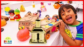 Diy Race Car Ryan Pretend Play | How To Make Homemade Toy Car Out Of Cardboard For Kids!!!