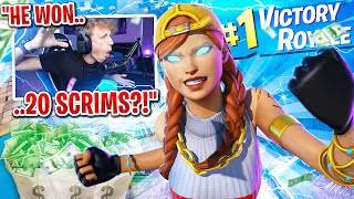 This kid won $2,000 in my scrims in Fortnite... (he's NEVER LOST!)