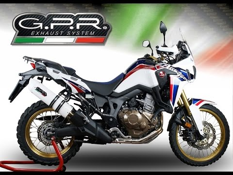 honda africa twin 1000 honda crf 1000 l africa gpr exhaust. Black Bedroom Furniture Sets. Home Design Ideas