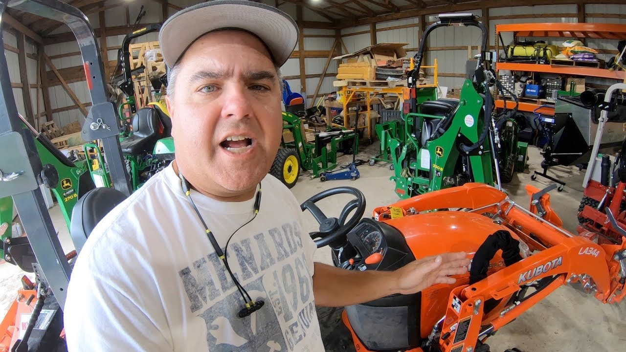 Kubota BX vs  Deere 1025R - Round #1 - 3 Point Hitch - Tractor Time