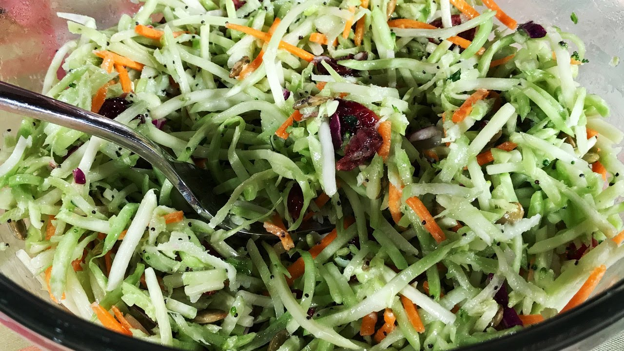 How to make my own broccoli slaw