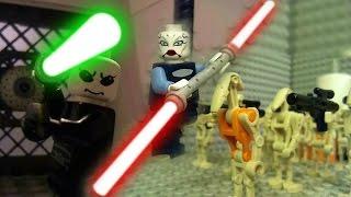 Lay-Wah vs. Asajj Ventress (Part 1) - LEGO STAR WARS LIGHTSABER FIGHT