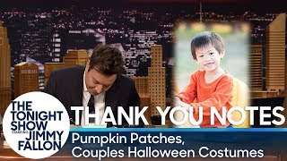 Thank You Notes: Pumpkin Patches, Couples Halloween Costumes thumbnail