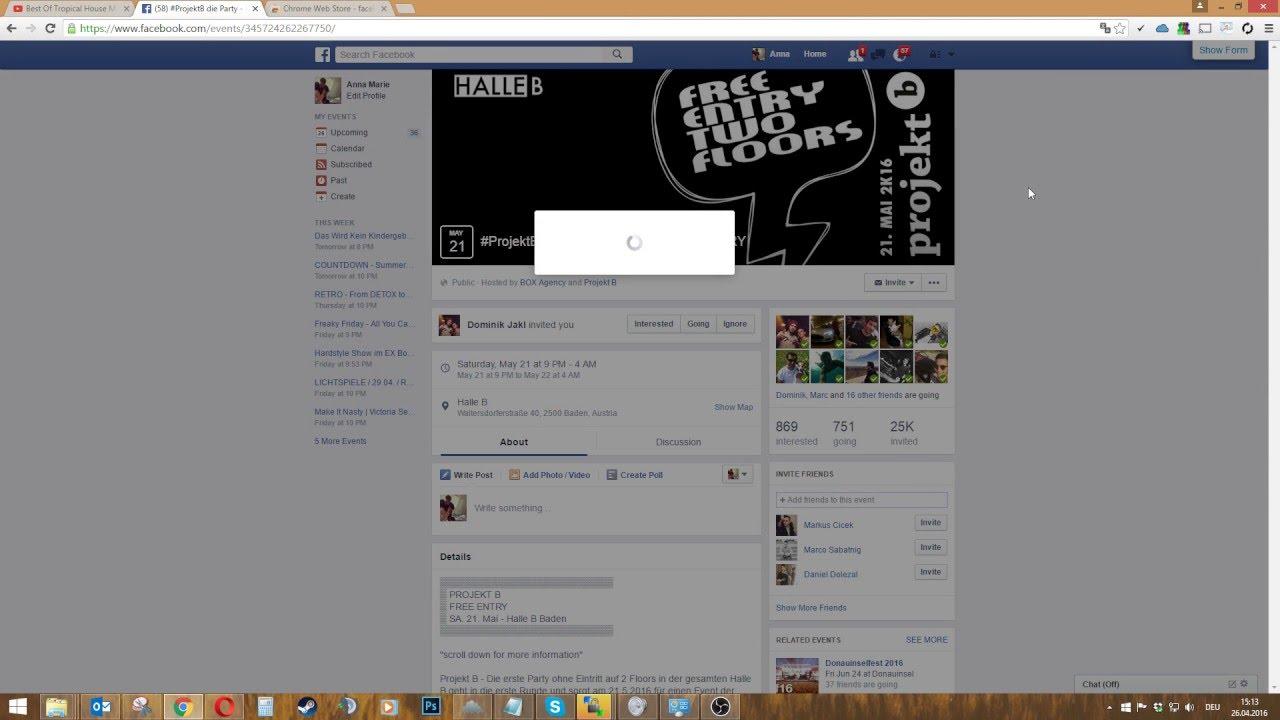 1# - facebook alle freunde zu event einladen - 2016 - youtube, Einladung