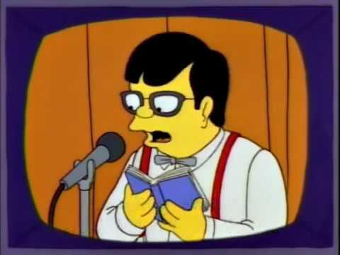 Garrison Keillor on the Simpsons