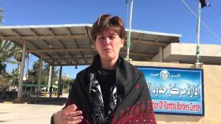 Minister Bibeau at the Ramtha border, between Jordan and Syria