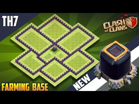 New INSANE Town Hall 7 [TH7] DARK ELIXIR FARMING Base 2018!! COC BEST Th7 (DE) Farming Base Design